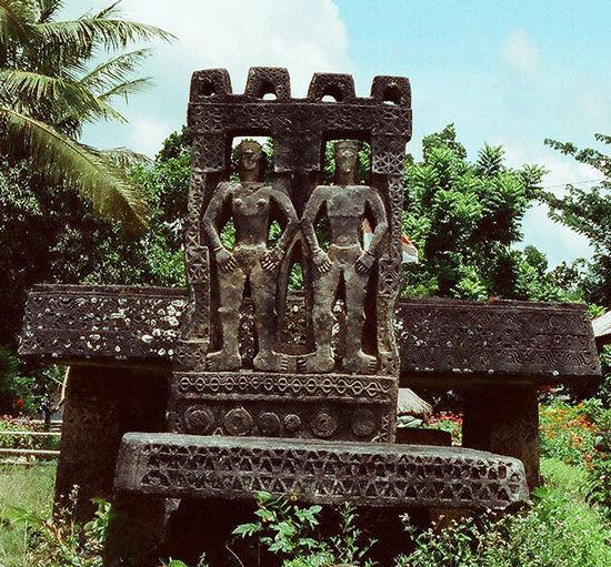 Megalithic tomb in Anakalang, West Sumba