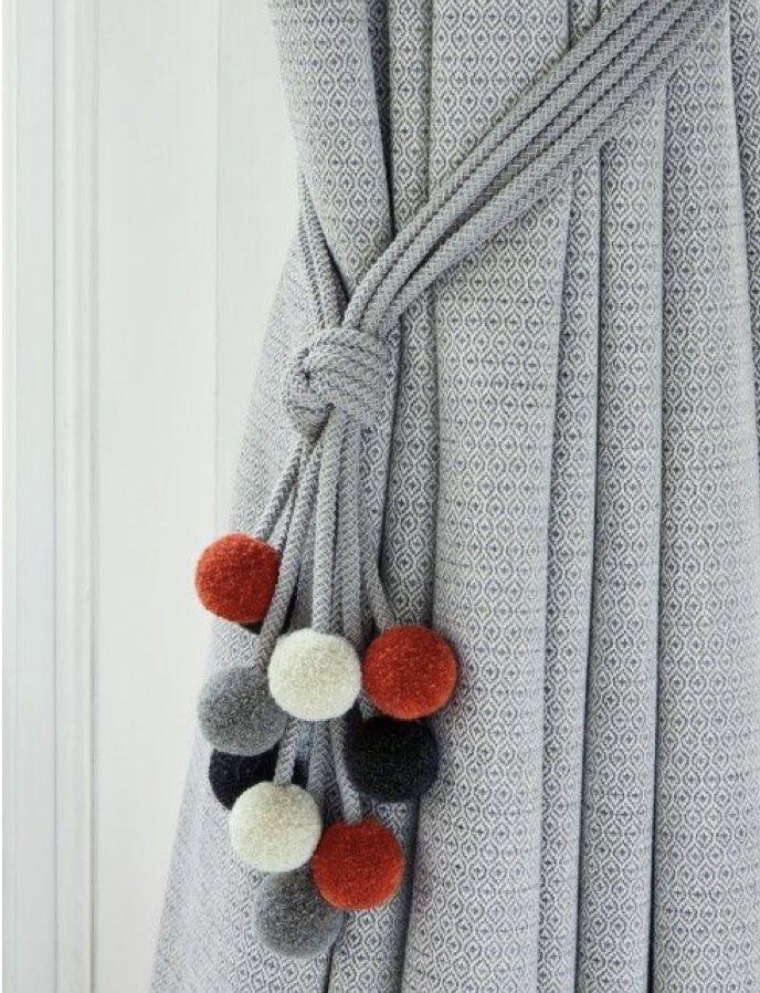 10 Diy Curtain Tie Back Ideas Curtain Tie Backs Diy Diy