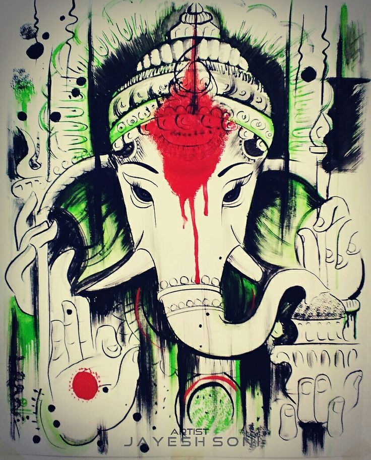 Title - Abstract lord Ganesha  Size-  A3 Medium - watercolours Art by - JAYESH SONI @a_for_Artist_29 Original artwork - shekhar ballari   Hope you all like it. #aforartiat29 #art#painting #artistic #artwork #artlovers #salepainting  #watercolours #watercolor #hindu #lord #ganesha #ganpati  #artby #jayeshsonitattoo #bhopal #india #