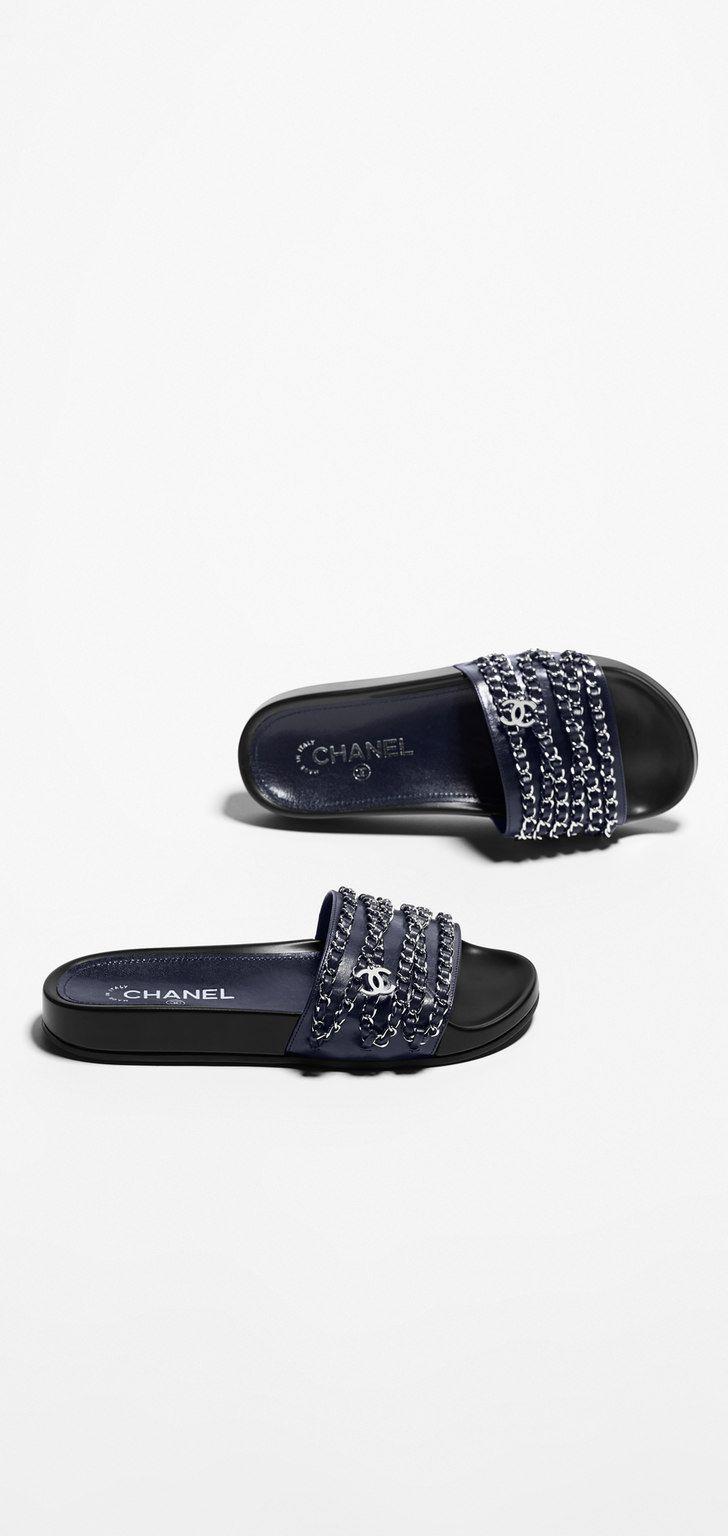 1ab12ecfab2f Chaussure CHANEL   Chanel Spring-Summer 2016 Pré-collection cuir de veau  glacé-