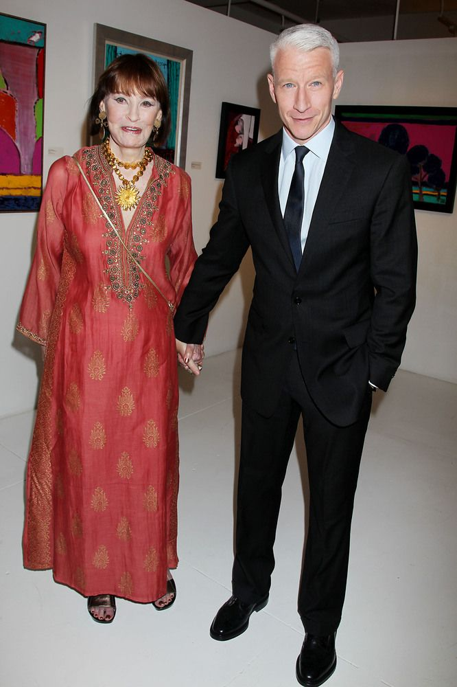 Anderson Cooper with his Mom, Gloria Vanderbilt
