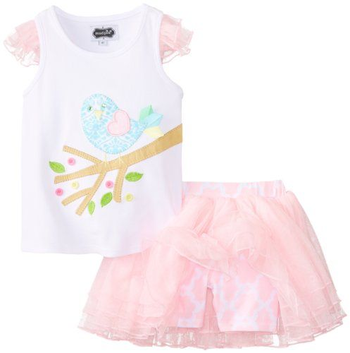 Mud Pie Little Girls' Little Chick Skirt Set, Pink, 4T  - Click image twice for more info - See a larger selection of little girl skirthttp://girlsdressgallery.com/product-category/skirt/ - girls,toddler,little girls clothing, little girls fashion, little girls dress, little girls fashion, baby, gift ideas