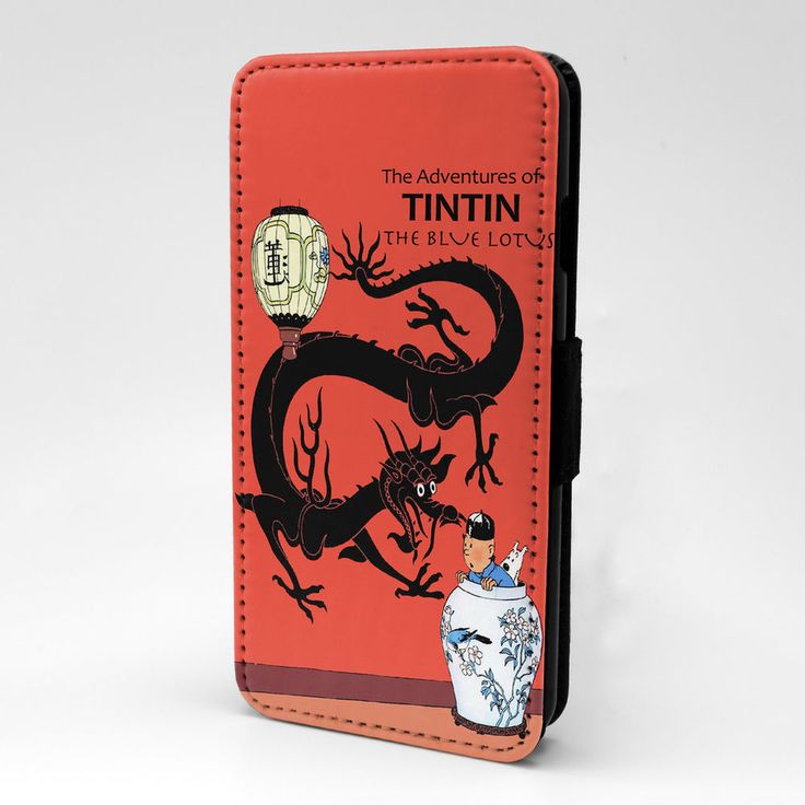 Tintin Cartoon Flip Case Cover For iPhone Samsung & Sony - G872 #Unbranded