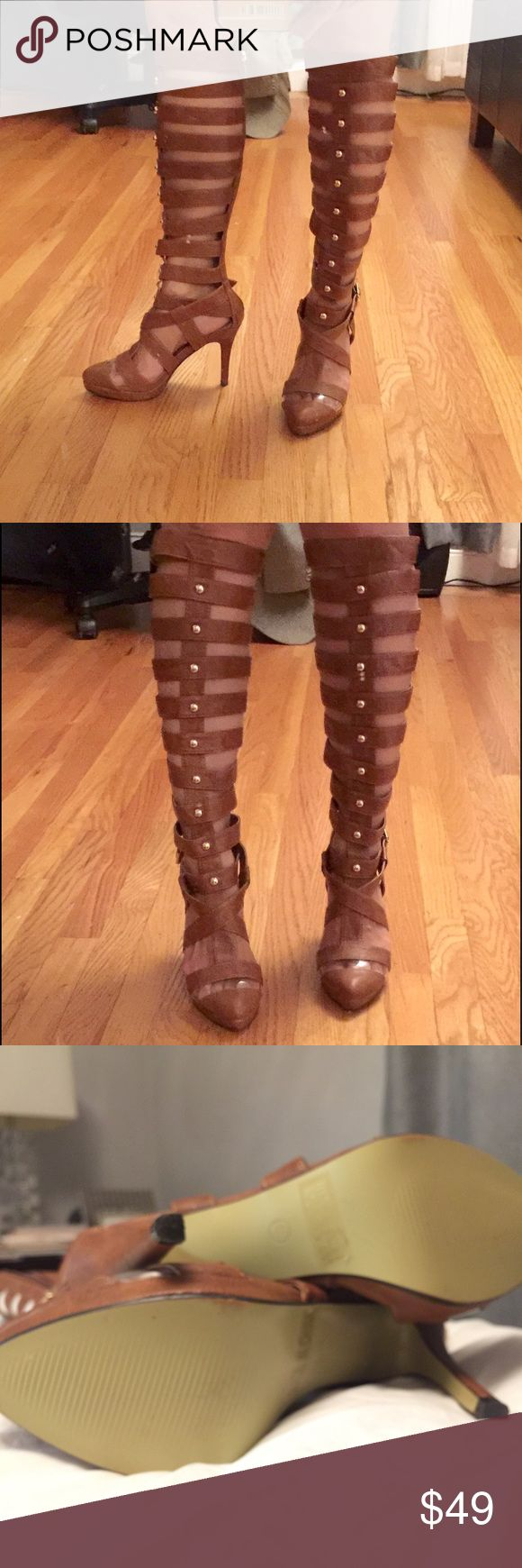 Super cool gladiator boots size 6.5 Excellent used condition no flaws. True to size 6.5 average width. Perfect for summer! Urban OG Shoes Heeled Boots