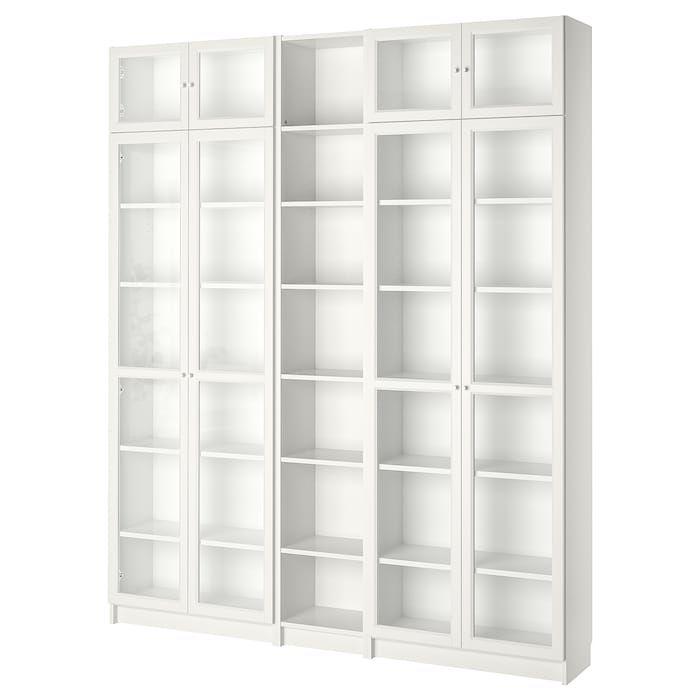 Billy Oxberg Bookcase White 78 3 4x11 3 4x93 1 4 Ikea White Bookcase Bookcase Billy Bookcase