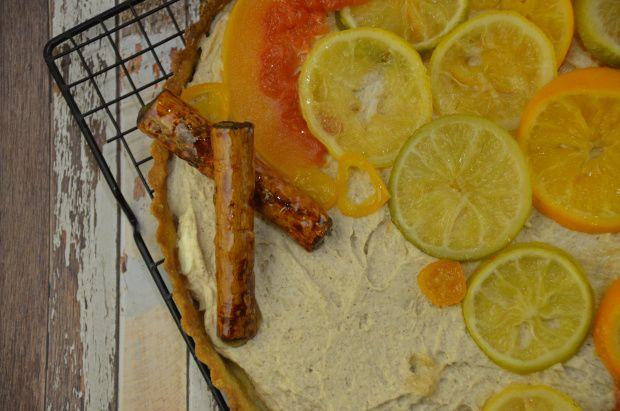 Tarta de ricotta chai y cítricos / Ricotta chai and citric tart