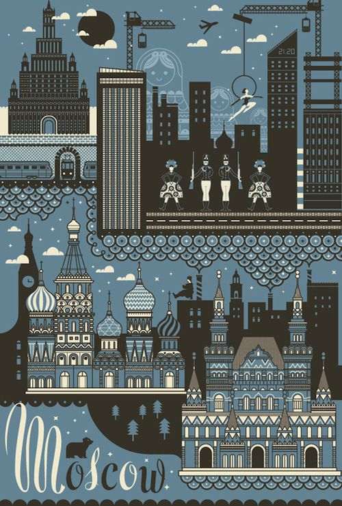 Moscow poster by ILoveDust