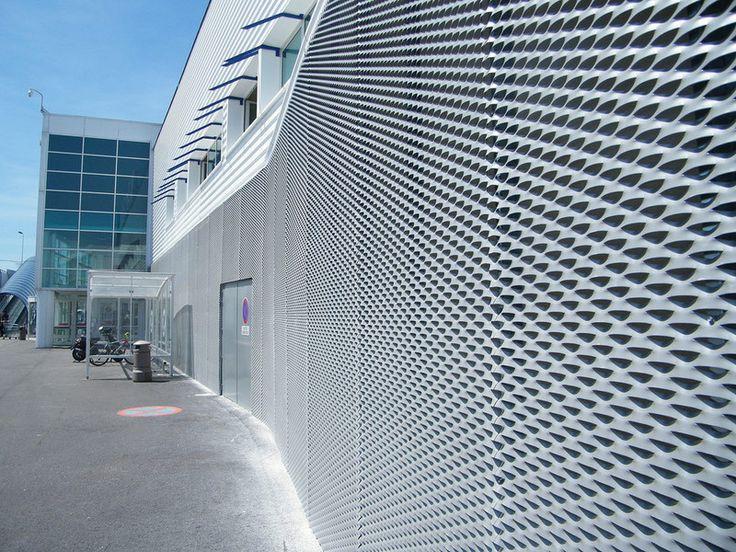façade en métal déployé aluminium   Mailles   Façade ...