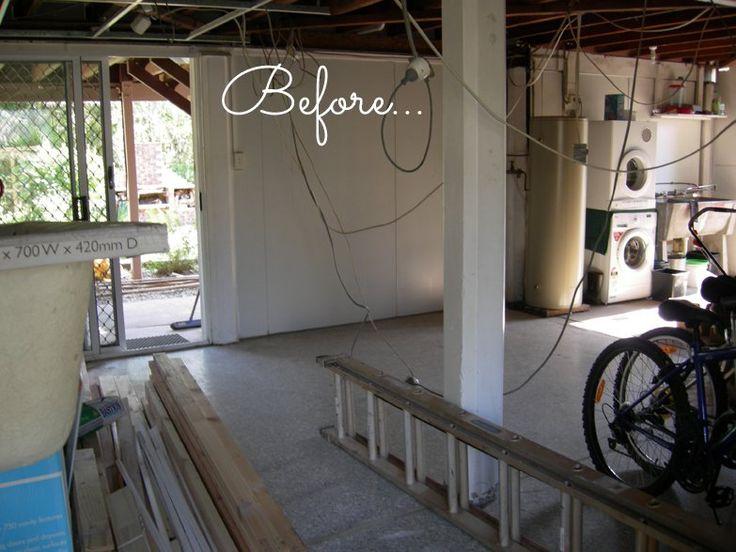 Retrofitting the suburbs - garage space before conversion to studio apartment
