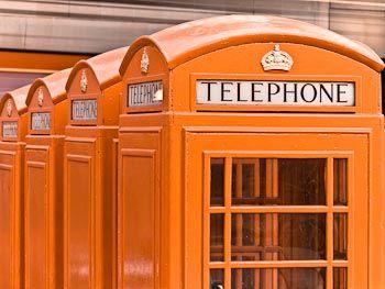 Orange Telephone Boxes