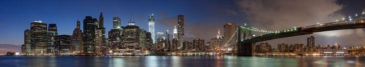 Manhattan Skyline to the Brooklyn Bridge