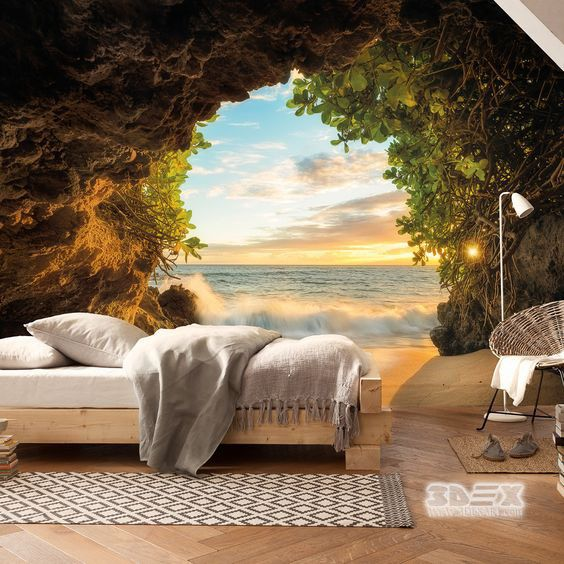 Relaxing 3D Nature Wallpaper Ideas For Bedroom Walls Useful Tips, Options  And Ideas For How