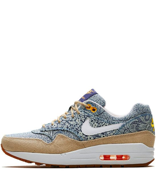 There are a pair of these. In my house. Hidden. For gift time. *Dies of excitement* Nike x Liberty Blue Liberty Print Air Max 1 Trainers