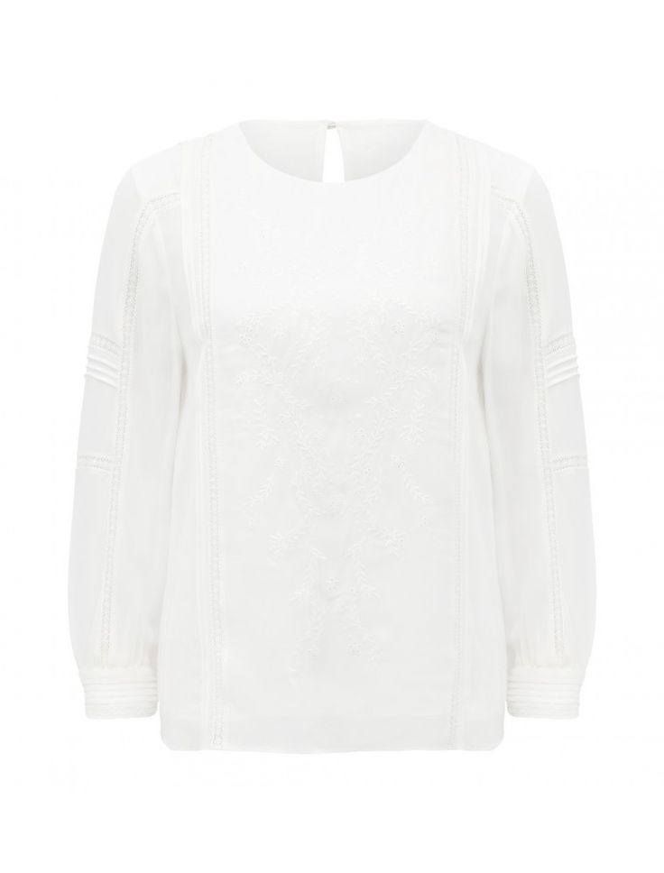 Christina Embroidered Blouse Cream - Womens Fashion | Forever New