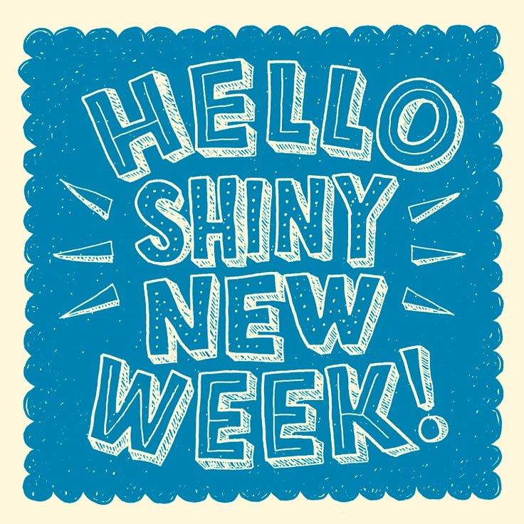 https://flic.kr/p/qazpnx | Shiny New Week | Hand lettered 'shiny new week'!
