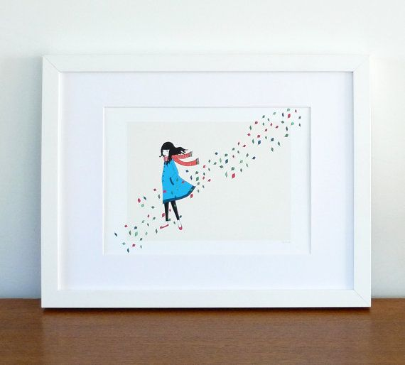 Windy day  Art Print A4 by lauraamiss on Etsy, €10.00