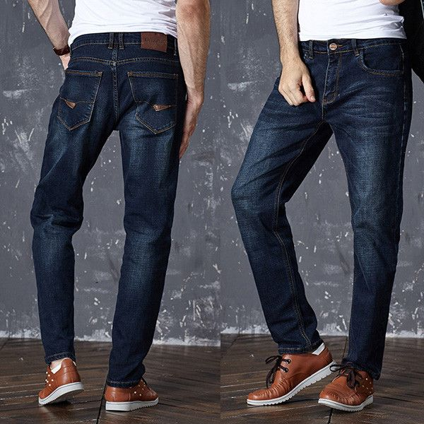 High Stretch Tapered Jeans Slim Denim Jean Trousers Pants