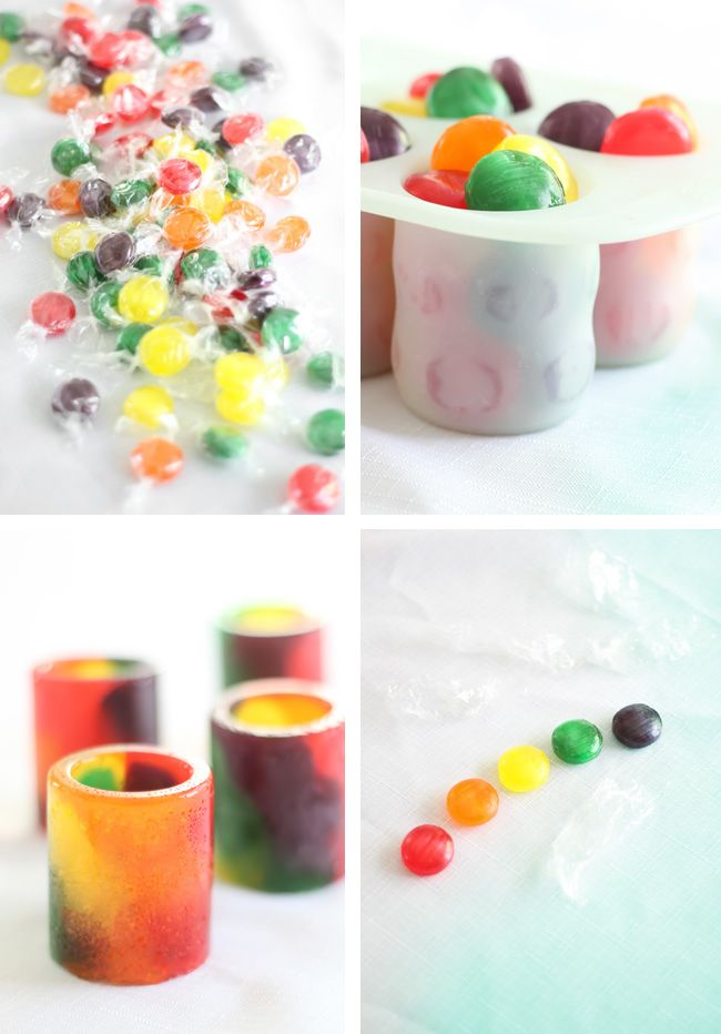 Sprinkle Bakes: How to Bake Hard Candy Shot Glasses
