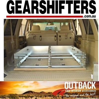200 SERIES TOYOTA LANDCRUISER 12 - 2007 ON,OUTBACK ROLLER DRAWERS 4WD 4X4 DRAW