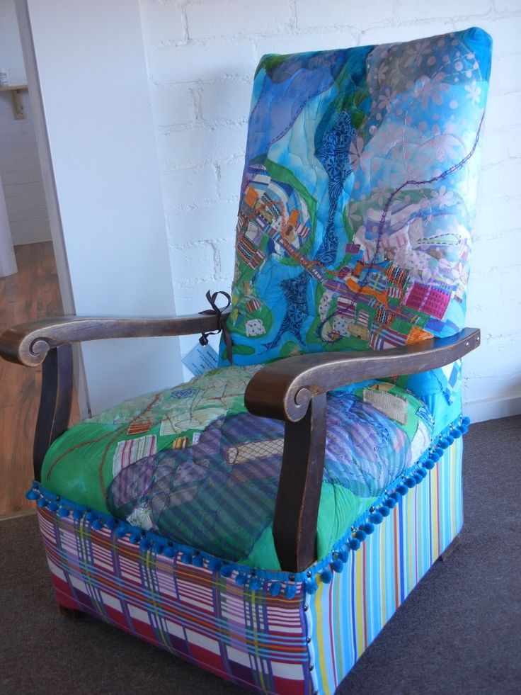 Leven's Seat - armchair inspired by local countryside near my parents' home. Artist - Jane Roberts  www.janeroberts-textiles.squarespace.com