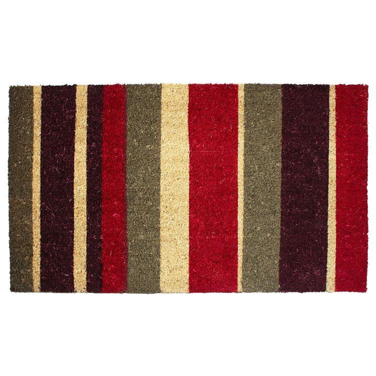 Striped Coir Doormat At Amazon.com.