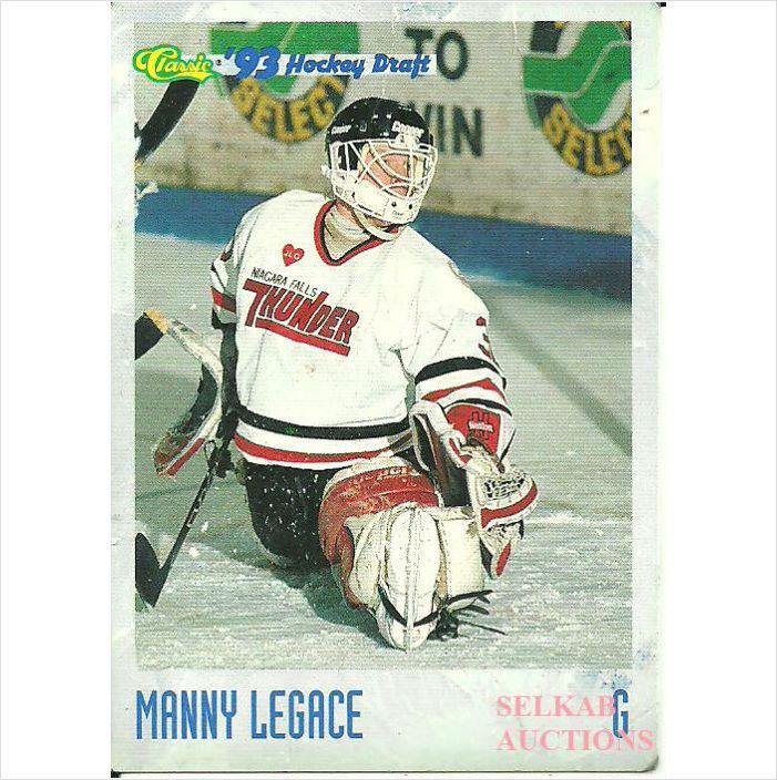 Classic 1993 OHL Hockey Trading Card 24 Manny Legace 34