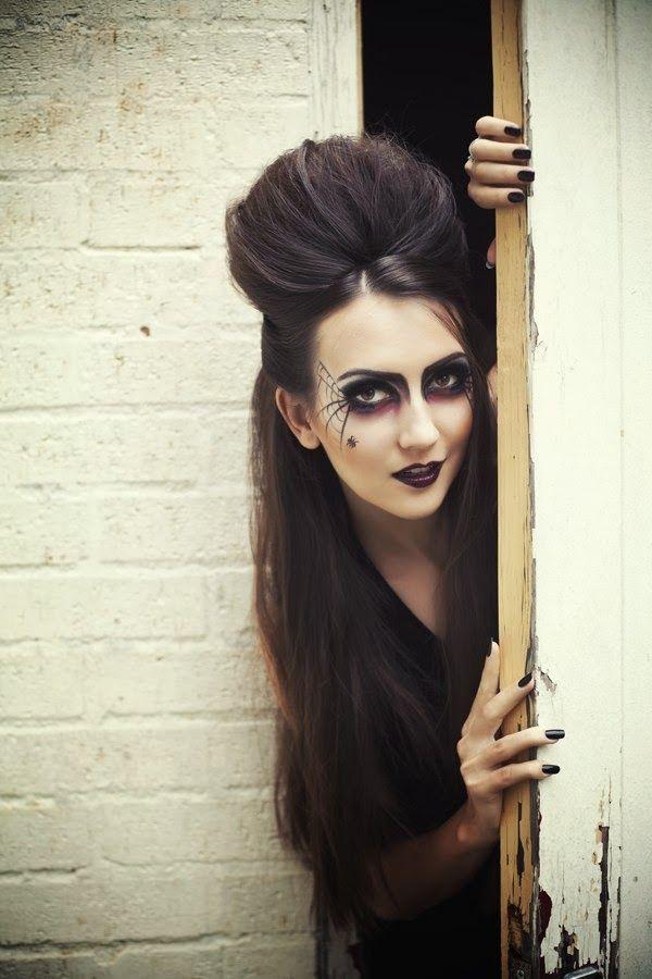 Halloween Makeup- Black Widow (1)