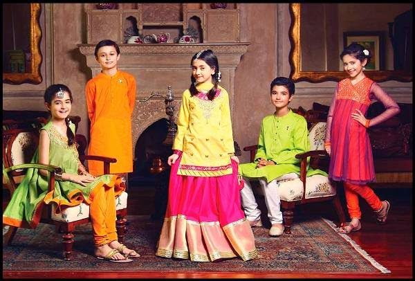 Colorful Eid Collection 2014 for Kids | Fashion Latest Dresses