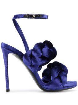 sandalias con tiras trenzadas al tobillo Blue