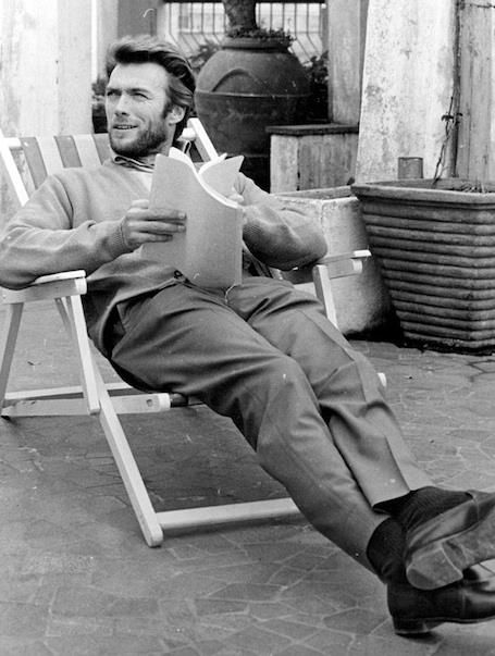Clint Eastwood... loungin'.