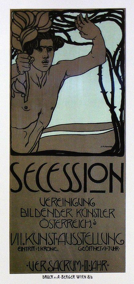 Vienna Secession poster for Ver Sacrum by Josef Maria Auchentaller, 1900