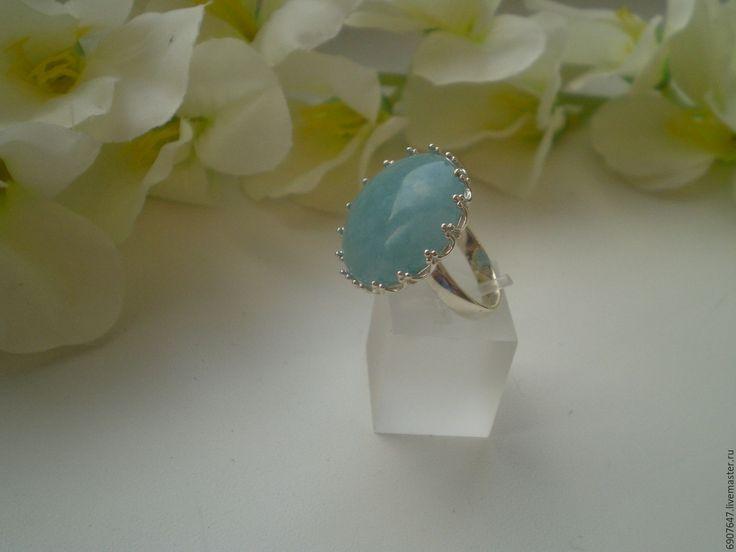 Купить Серебряное кольцо с аквамарином 925 пробы - кольцо, кольцо с камнем, серебряное кольцо