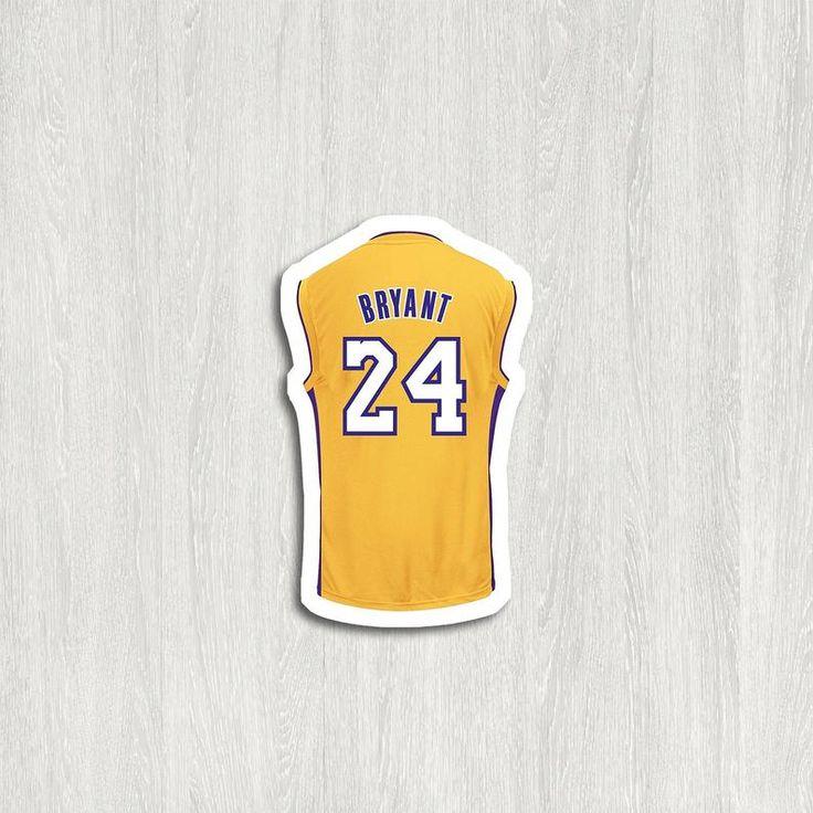 Kobe Bryant Jersey Vinyl Sticker FREE mini sticker w/every   Etsy ...