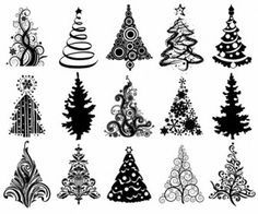 Christmas doodles trees