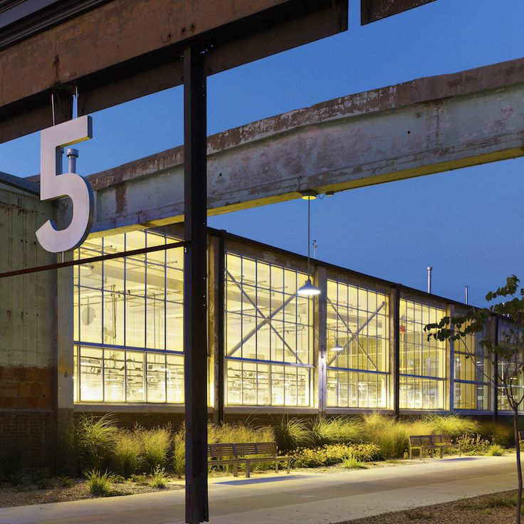 Converted Factory - Office Building - Adaptive Reuse - Modern Industrial - Historic Restoration