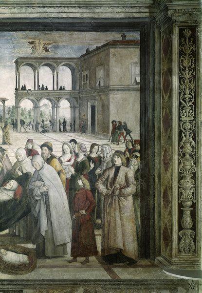 Begräbnis Hl.Bernhardin - Pinturicchio(Bernardino Betti) (Italy, 1454-1513) (Renaissance)