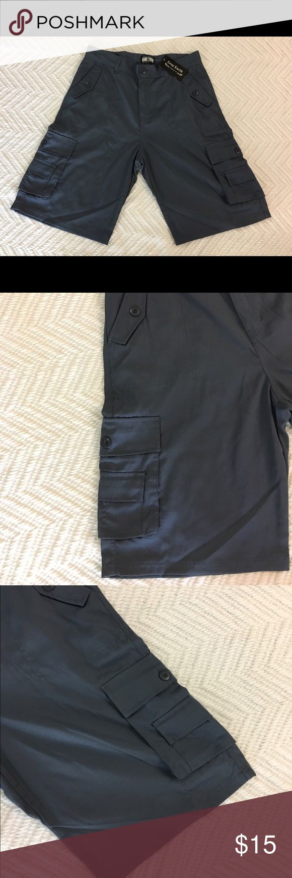 Mens Cargo Multi Pocket Gray Grey Shorts 34 New Size 34. New with tag. Please see all my pictures for details Gray Earth Shorts Cargo