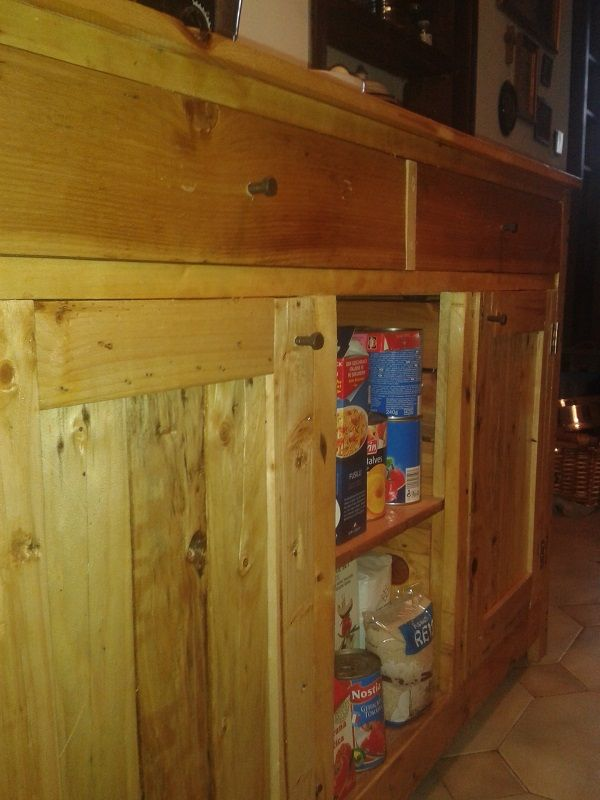 Oltre 1000 idee su pallet kitchen cabinets su pinterest - Cabinets made from pallets ...