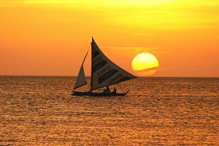 Sailing in the sunset.