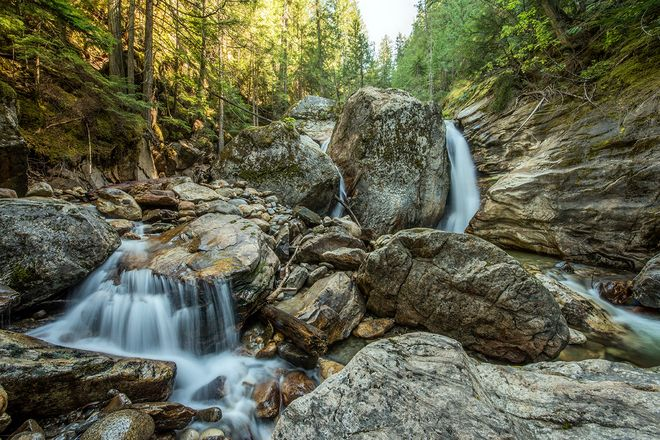 Sicamous Falls, Sicamous, BC, Canada.  . by Neil Millar