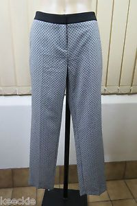 Size S 10 Ladies Grey Dress Pants Business Corporate 7 8 Length Black DOT Design | eBay