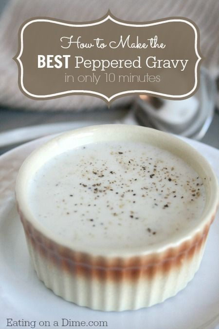 Learn how to make White gravy in just a few easy steps. I'm sure you already have all the ingredients. Plus, save money by making it instead of buying the packages. http://eatingonadime.com/how-to-make-white-gravy-in-10-minutes/?utm_campaign=coschedule&utm_source=pinterest&utm_medium=Eating%20on%20a%20Dime%20(Best%20of%20Eating%20on%20a%20Dime)&utm_content=How%20to%20Make%20White%20Gravy%20in%2010%20minutes!