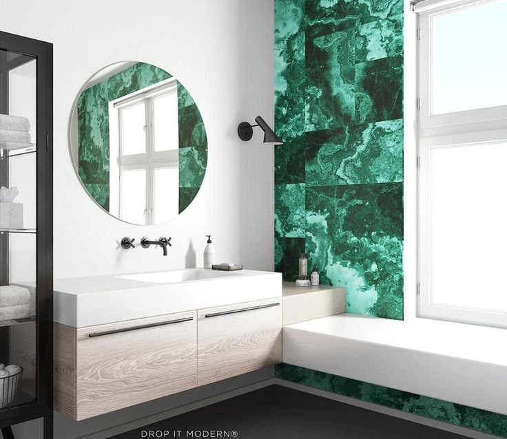 WALLPAPER : MARBLE©️️️️️️️️️️️️️️️️ // EMERALD - drop it MODERN - Modern and contemporary interior designed wallpaper for the studio and home. | #wallpaper #InteriorDesign #HomeDecor #bedroom #bathroom #kitchen #LivingRoom #designer #luxury #traditional #FarmHouse #MidCenturyModern #kitcheninteriordesigntraditional