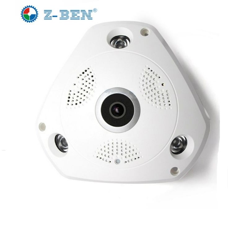 360 Degree Panoramic IP Camera Fisheye WIFI CCTV Cam PTZ 3D VR Video P2P 960P  Audio For Home Ofiice Security Remotely Monitori