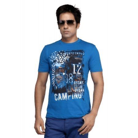 monte carlo blue printed tshirt