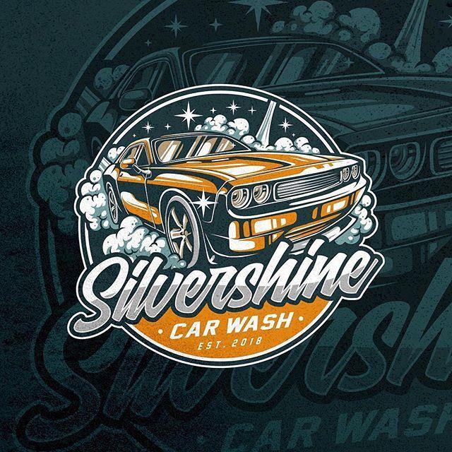 Retro Car Wash Logo Design by dhamas_ Car logo design