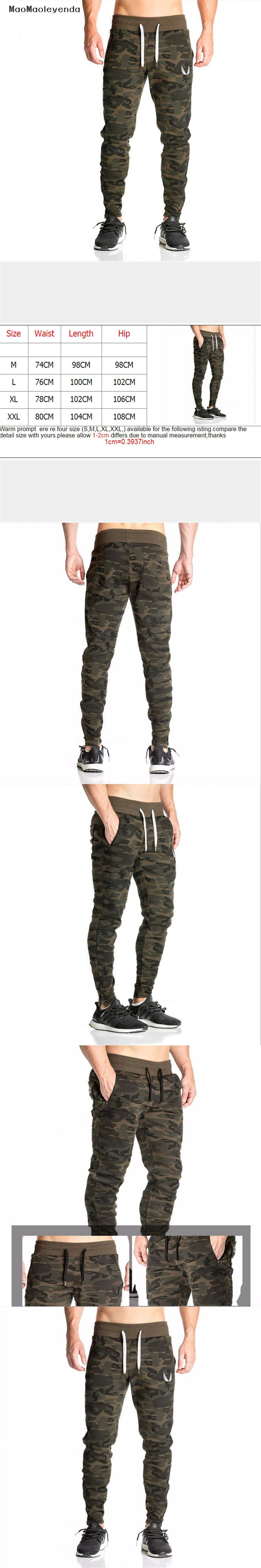 2017 maomaoleyenda pants Men's gasp workout bodybuilding clothing casual camouflage sweatpants joggers pants skinny trousers