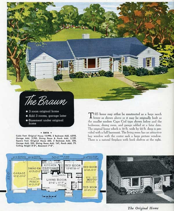 214 best vintage house plans images on pinterest vintage for Moderate house plans