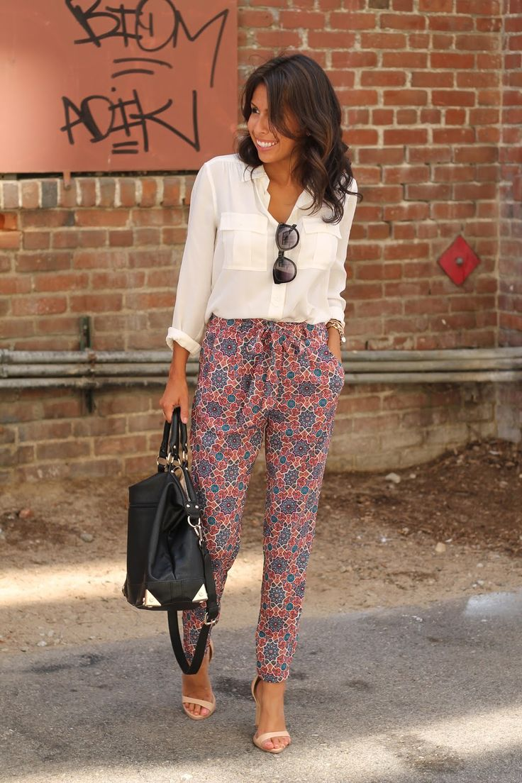 Printed trousers are a must-have staple for your wardrobe that'll keep you stylish from desk to drinks. #SAFWstyle