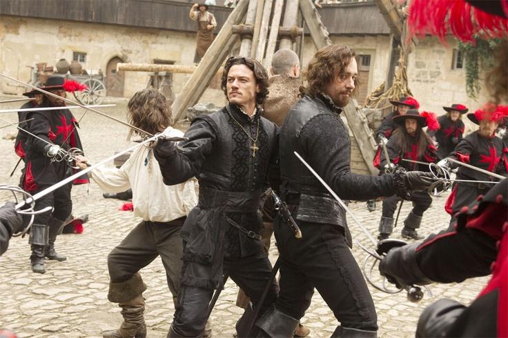Logan Lerman, Matthew Macfadyen, Ray Stevenson and Luke Evans in The Three Musketeers (2011)